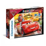 Puzzle  Clementoni-26424 XXL Pieces - Cars 3