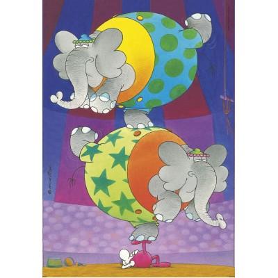 Clementoni-27134 The Mordillo Balance Supercolor Puzzle