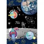 Clementoni-27142 Space Explorer- Supercolor Puzzle