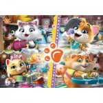 Clementoni-27539 Glitter Puzzle - 44 Cats