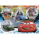 Clementoni-27857 Jigsaw Puzzle - 104 Pieces - Cars : Ready to Go