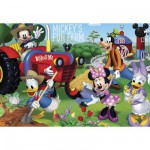 Clementoni-27859 Jigsaw Puzzle - 104 Pieces : Mickey and his Friends at the Farm