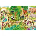 Puzzle  Clementoni-28505 XXL Pieces - Zoo
