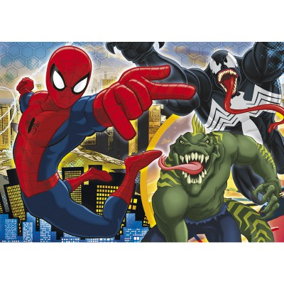 Clementoni-29681 Jigsaw Puzzle - 250 Pieces - Ultimate Spider-Man : The Battle Begins !