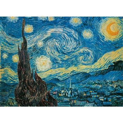 Clementoni-30314 Jigsaw Puzzle - 500 Pieces - Van Gogh : The Starry Night