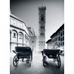 Clementoni-30347 Jigsaw Puzzle - 500 Pieces : Florence in Black and White