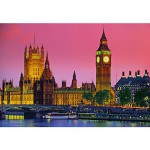 Clementoni-30378 Jigsaw Puzzle - 500 Pieces - London by Night