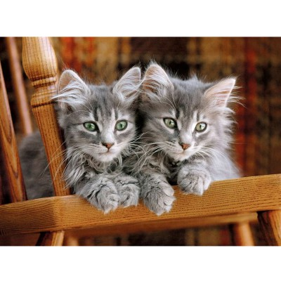 Puzzle Clementoni-30545 Gray Kittens on the chair
