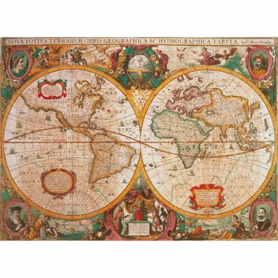 Clementoni-31229 Jigsaw Puzzle - 1000 Pieces - Ancient Map