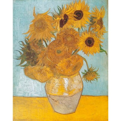 Clementoni-31438 Jigsaw Puzzle - 1000 Pieces - Van Gogh : The Sunflowers