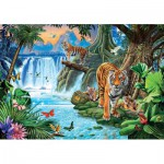 Puzzle  Clementoni-31636 Tiger Family