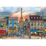 Puzzle  Clementoni-31679 Dominic Davison - Streets of Paris
