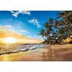 Puzzle  Clementoni-31681 Sunset on a Tropical Beach