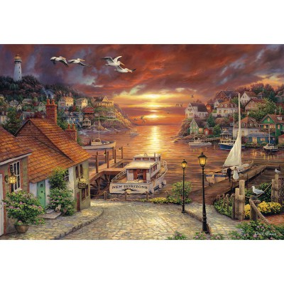 Clementoni-32548 Jigsaw Puzzle - 2000 Pieces : New Horizons