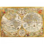 Puzzle  Clementoni-32557 Antique World Map