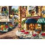 Clementoni-33530 Jigsaw Puzzle - 3000 Pieces - Flowered Village