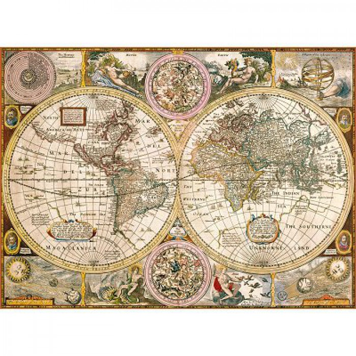 Jigsaw Puzzle - 3000 Pieces - Ancient World Map