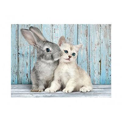 Puzzle Clementoni-35004 Cat and Rabbit