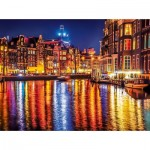 Puzzle  Clementoni-35037 Amsterdam by Night