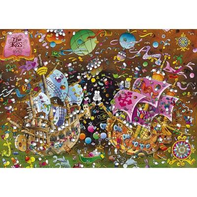 Clementoni-36527 Mordillo Puzzle - The Kiss