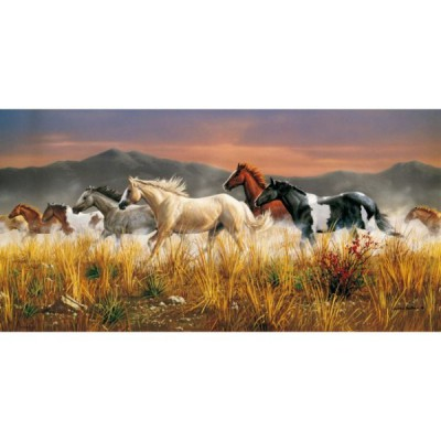 Clementoni-38006 Jigsaw Puzzle - 13200 Pieces - Herd of Horses