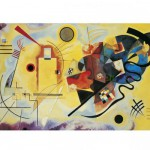 Clementoni-39195 Jigsaw Puzzle - 1000 Pieces - Kandinsky : Yellow - Red - Blue
