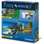 Clementoni-39278 Puzzle Mania Kit