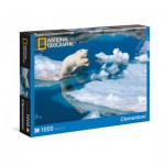 Puzzle  Clementoni-39304 National Geographic - Polar bear
