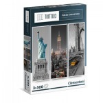 Clementoni-39305 3 Jigsaw Puzzles - New York