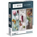 Clementoni-39308 3 Jigsaw Puzzles - Mediterranean Cooking
