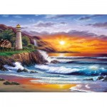 Puzzle  Clementoni-39368 Sundram: Lighthouse at sunset