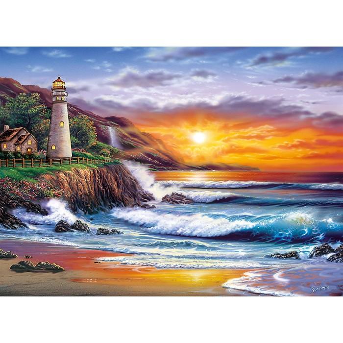 Sundram: Lighthouse at sunset
