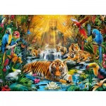 Puzzle  Clementoni-39380 Mysterious Tiger
