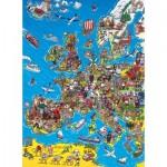 Puzzle  Clementoni-39384 European Map