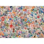 Puzzle  Clementoni-39387 Stamps