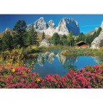 Puzzle  Clementoni-39459 Pordoi Pass, Dolomites, Italy