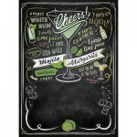 Clementoni-39467 Black Board Puzzle - Cheers