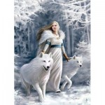 Puzzle  Clementoni-39477 Anne Stokes - Guardians of Winter