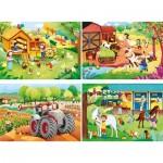 4 Puzzles - The Farm (2x20, 2x60 Pièces)