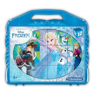 Clementoni-41186 Cube Puzzle - Frozen