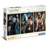 Clementoni-61884 3 Jigsaw Puzzles - Harry Potter