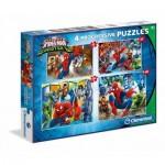 Clementoni-96011 4 Progressive Puzzles - Spiderman