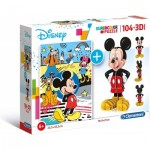 Mickey Mouse (Puzzle + 3D Model)