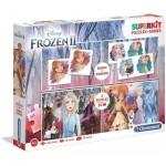 Superkit 4 in 1 - Frozen 2 (2 Puzzles + Memory + Domino)