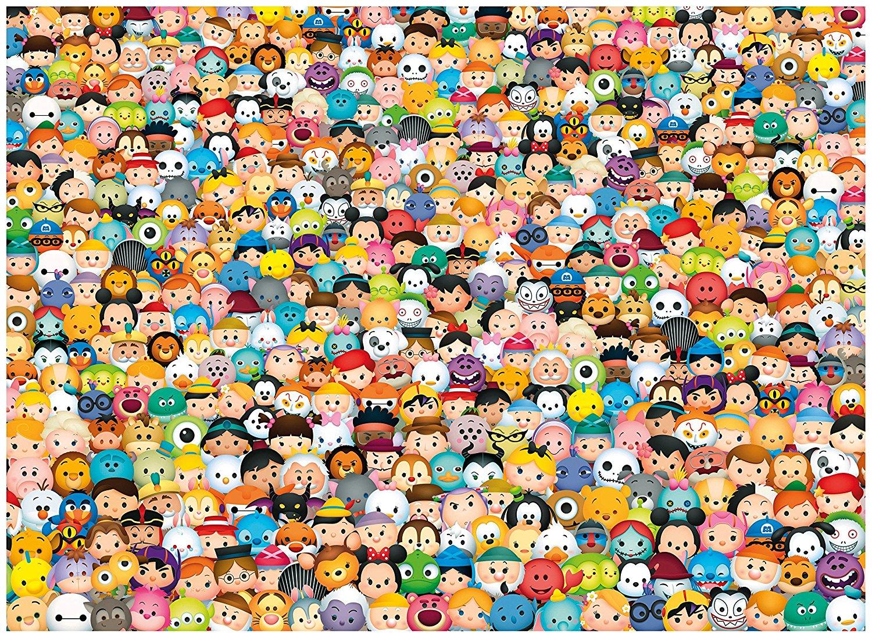 Disney Tsum Tsum Para Colorear: Impossible Puzzle! Clementoni-39363
