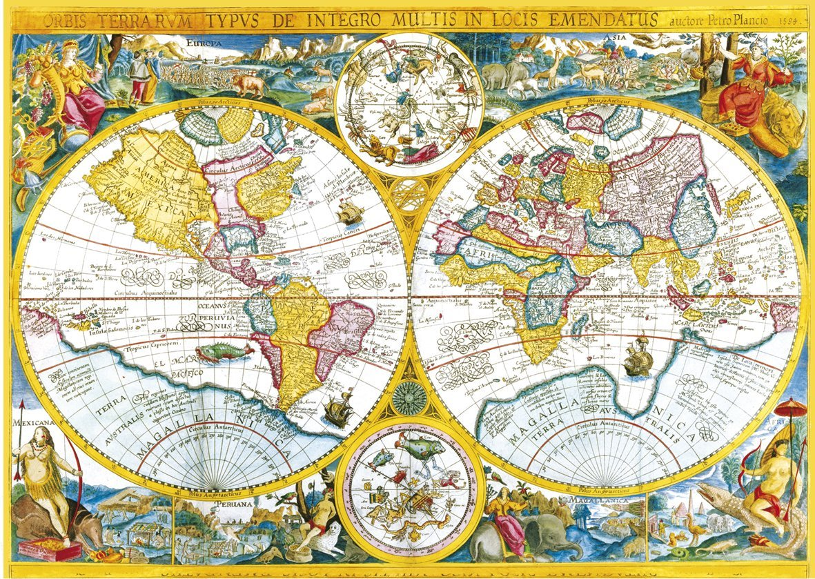 Jigsaw puzzle 4000 pieces ancient world map clementoni 34516 jigsaw puzzle 4000 pieces ancient world map gumiabroncs Images