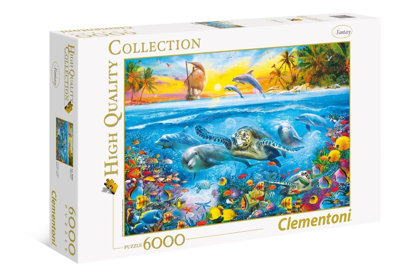 puzzle under water clementoni 36523 6000 pieces jigsaw. Black Bedroom Furniture Sets. Home Design Ideas