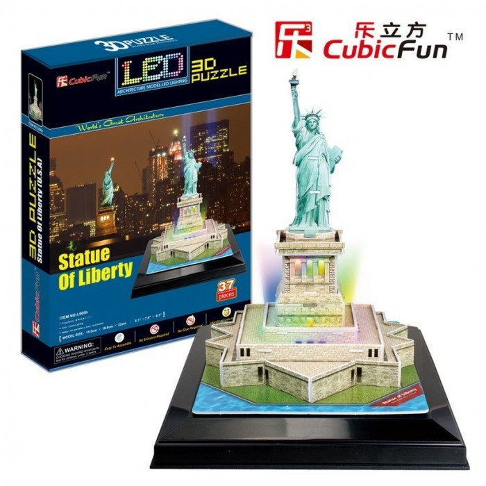 3D Jigsaw Puzzle with LED Light - Statue of Liberty