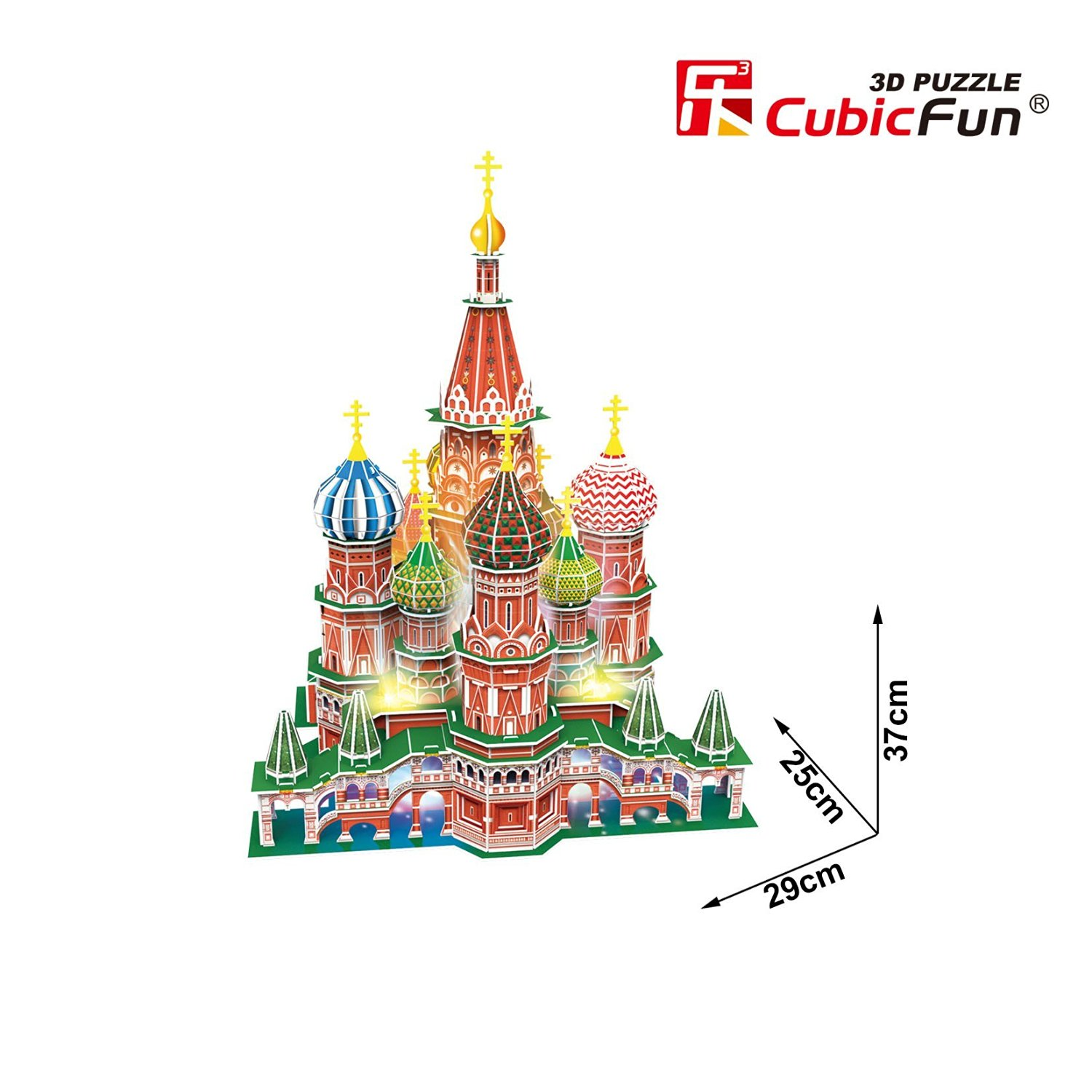 3D Jigsaw Puzzle with LED - St. Basil's Cathedral ...