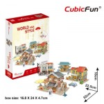 3D Puzzle - 3D World Style - Asia - Difficulty: 4/6